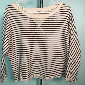 Kenar striped cotton crew neck pull over sweater S